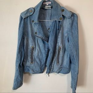 Paul & joe sister denim Moto jacket size 36 small